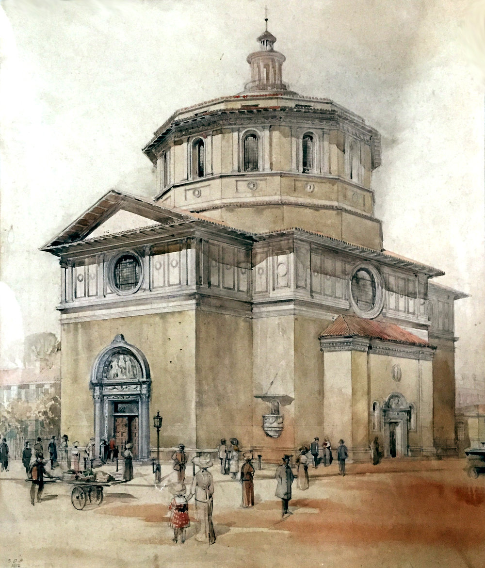 Original design of St Anselm's Church, Kennington, which was never completed