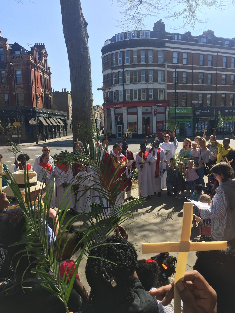 Palm Sunday at St Anselm's