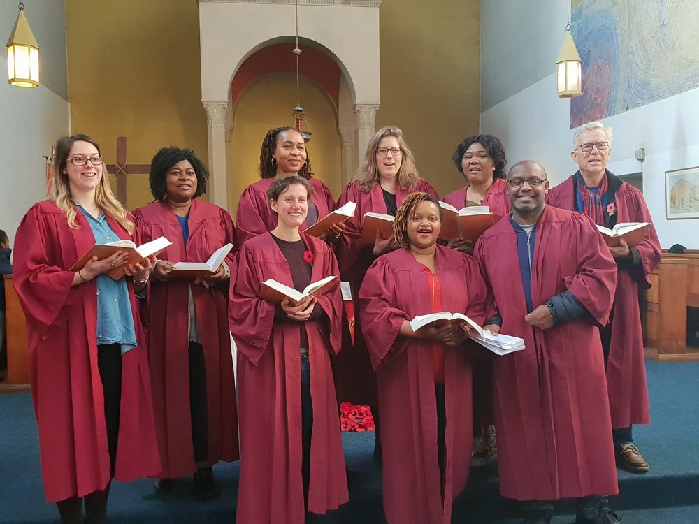 Sunday morning choir at St Anselm's
