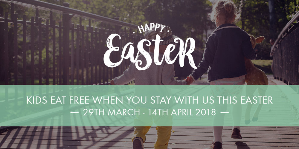 Kids eat free when you book a family break at an Oakman Inns hotel this Easter holiday