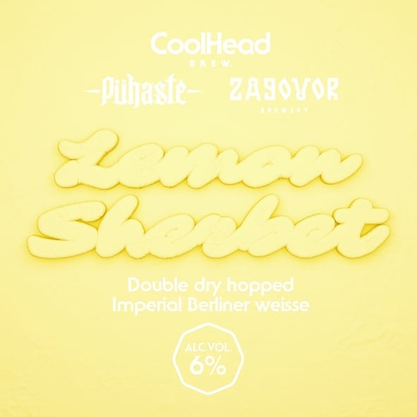 The second new release for this week is the collab with our friends from @zagovorbrewery Moscow, Russia and @puhastebeer Tartu, Estonia.  Lemon Sherbet is a Double Dry Hopped Imperial Berliner Weisse brewed with fresh lemon zest, Indian coriander seeds and Citra & Ekuanot hops. For the sherbety mouthfeel we added excessive amount of oats and a touch of milk sugar.  Available this week at least from the bars below and on Saturday from the brewery.  @panemakallio  @brewdoghelsinki  @alvarbaariturku @cafe_rooster  @pubmallaskellari  @barbronco1  @pubwinston  @kabacka  @solmupub  @barbronco3  @onepintpub  @craftersbarfi  @explosivebarjkl  @silmupub