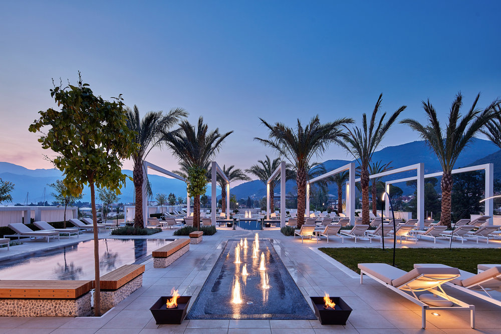 Condo hotel pool club
