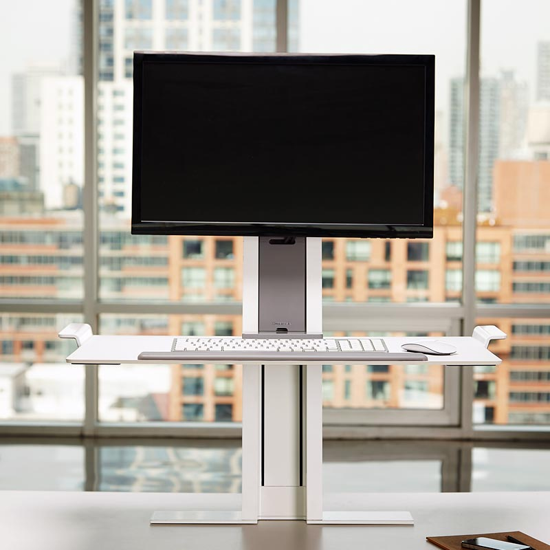humanscale quickstand standing desk healthy office design