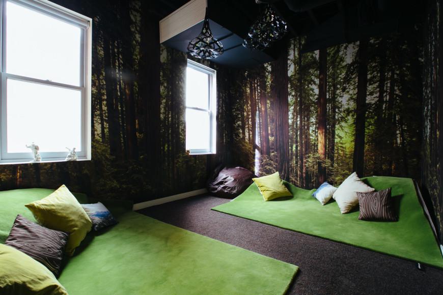 meditation room biophilic green eco design biofilico
