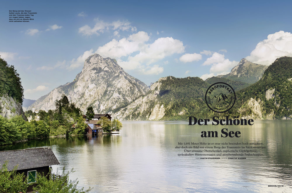 """""""Der Schöne am See"""" / Bergportrait vom Traunstein im Salzkammergut für BERGWELTEN"""