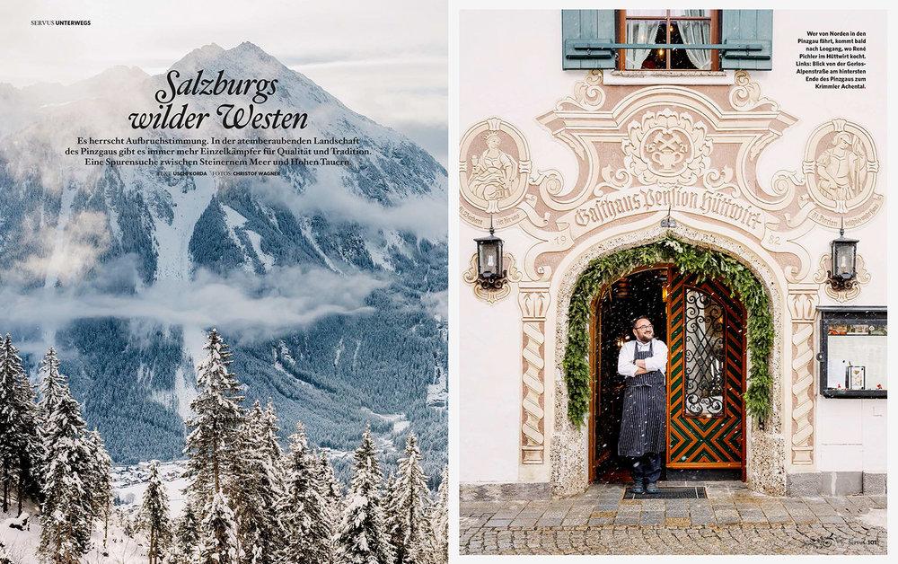 """""""Salzburgs wilder Westen"""" /kulinarische Reisereportage über das Pinzgau für GUTE KÜCHE"""