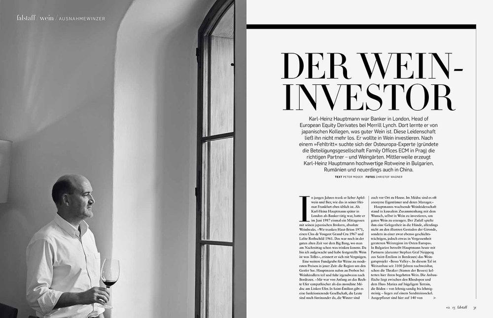 """""""Der Wein-Investor"""" / FALSTAFF"""