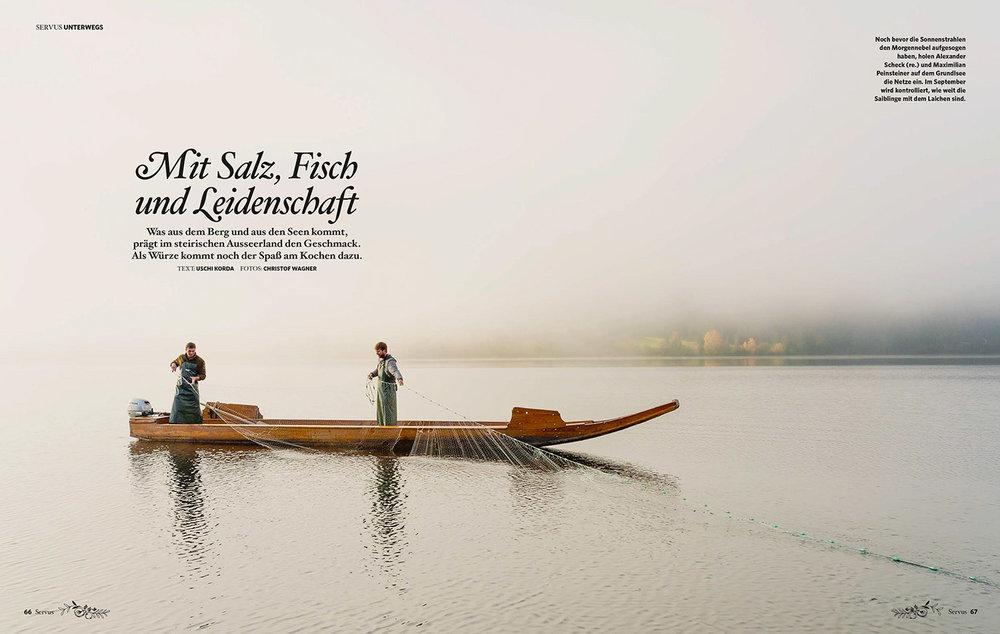 """""""Mit Salz, Fisch und Leidenschaft"""" / kulinarische Reisereportage im Ausseerland für GUTE KÜCHE"""