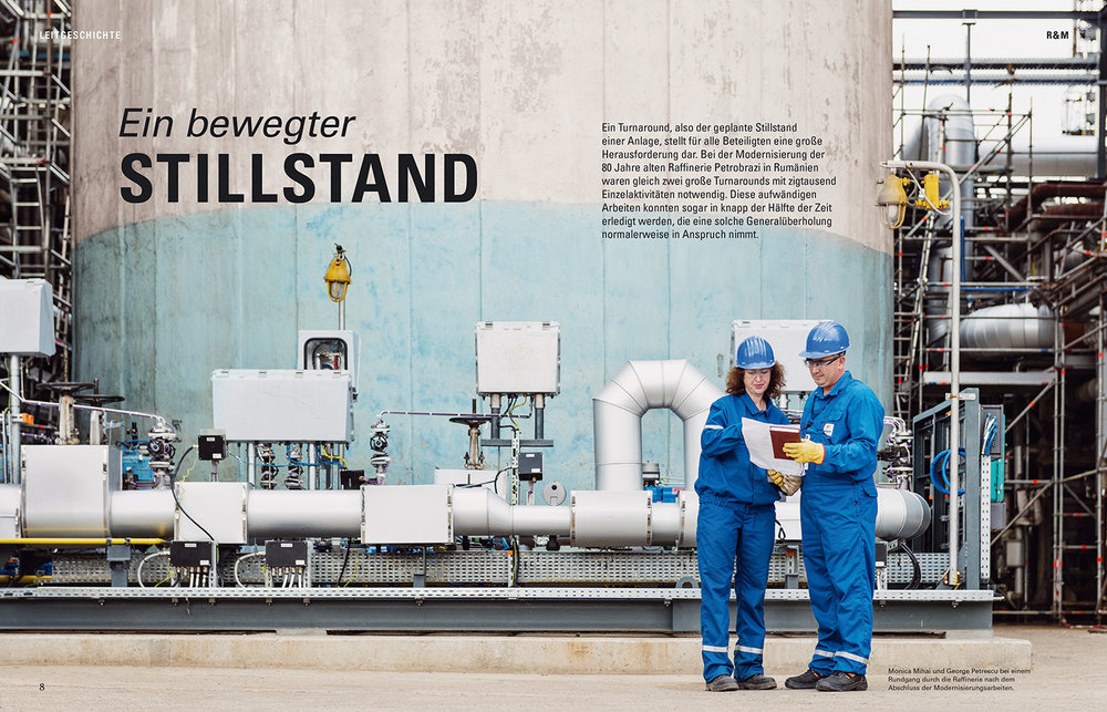 """Ein bewegter Stillstand"" / OMV Corporate Magazine MOVE Coverstory / Industriereportage in Rumänien"