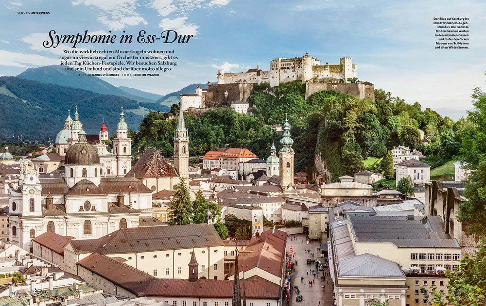 kulinarische Reisereportage durch Salzburg Stadt