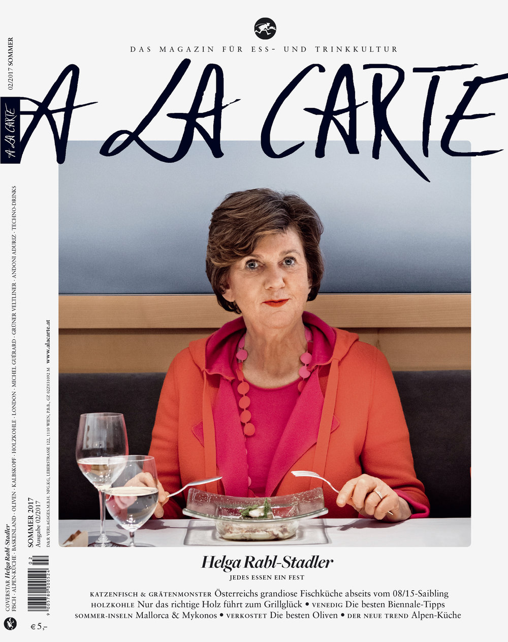 A LA CARTE / Coverstory mit Helga Rabl-Stadler, Sommer 2017