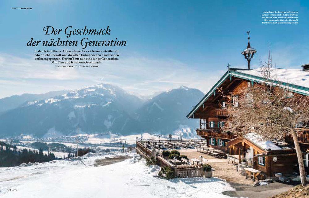18seitige kulinarische Reportage in Kitzbühel / GUTE KÜCHE Winter 2018