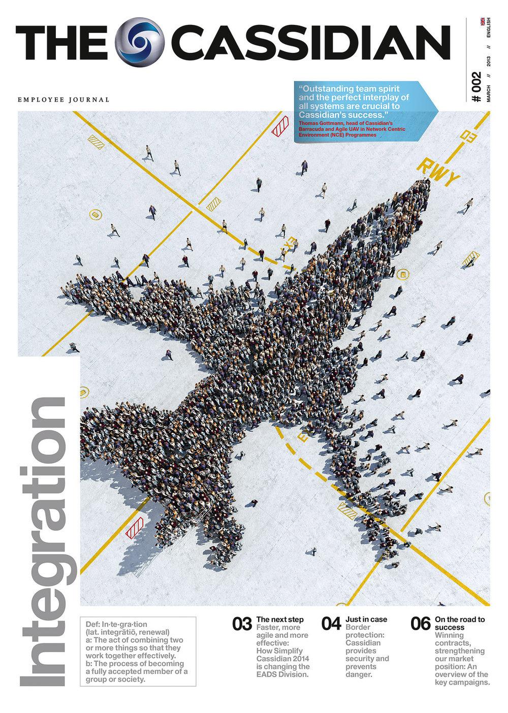 3D-Rendering für das Cover der Airbus-Mitarbeiterzeitung