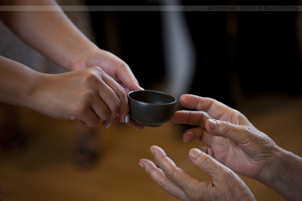 tea ceremony wedding photo