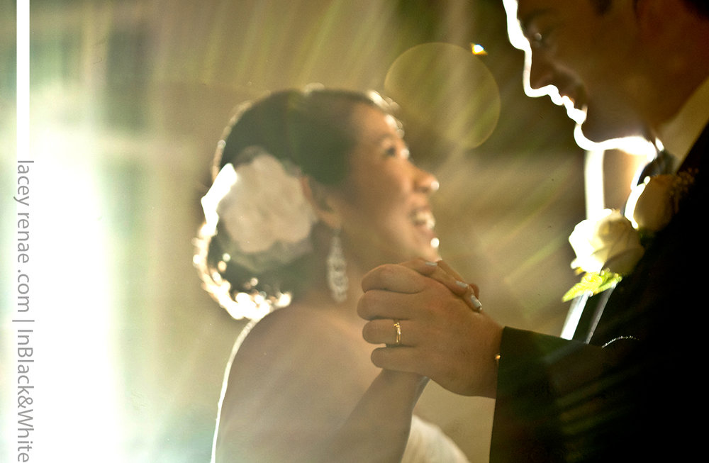 first dance backlit photography