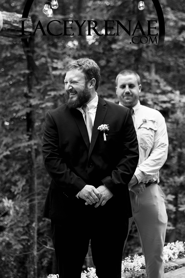 Daniel, the ecstatic groom, waiting for his beautiful bride.