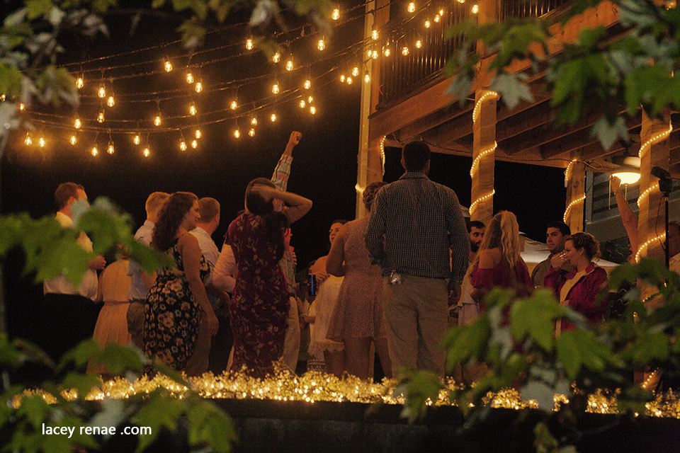 Partying at wedding dancefloor