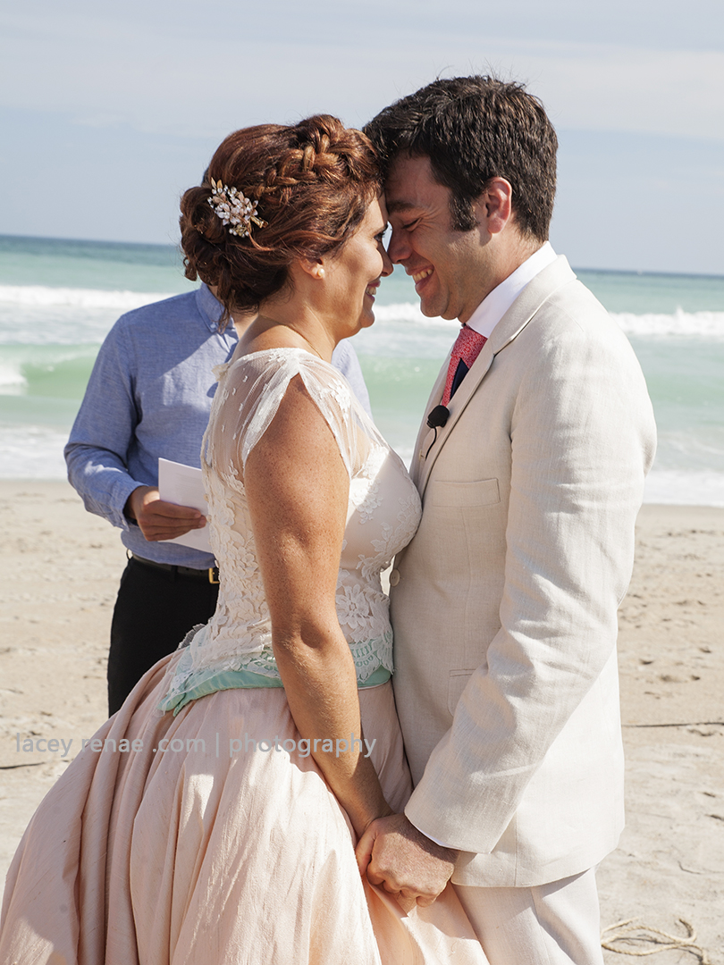 bride and groom beach ceremony