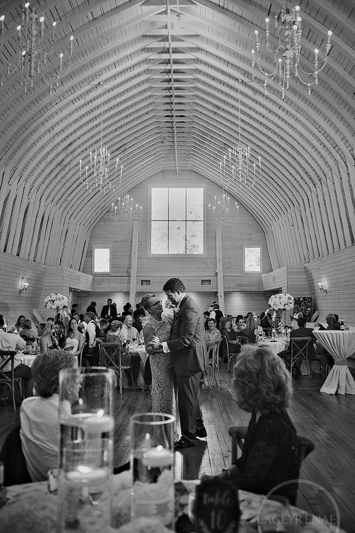 Great vantage of the upstairs area in the barn, so perfect for wedding receptions!