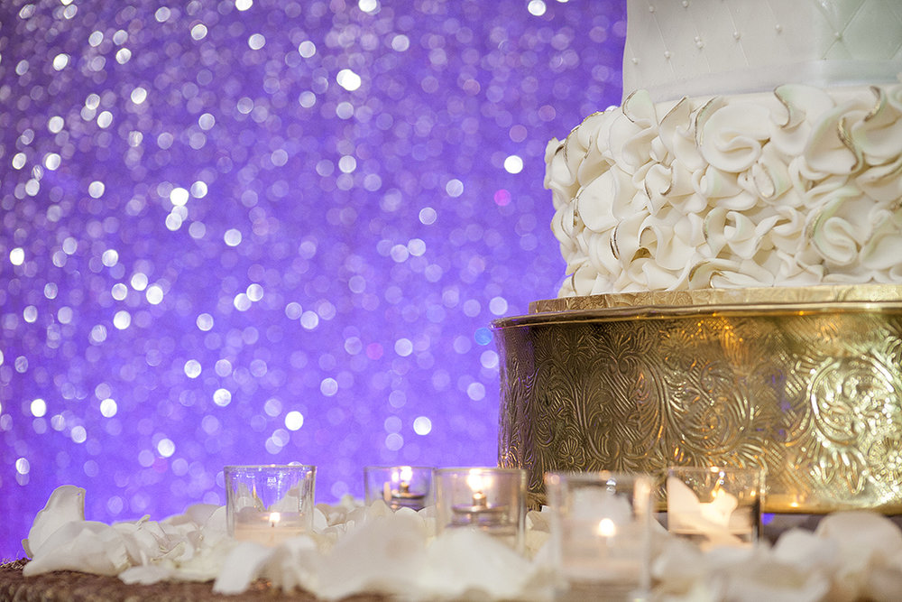 Wedding Cake Glittery Backdrop