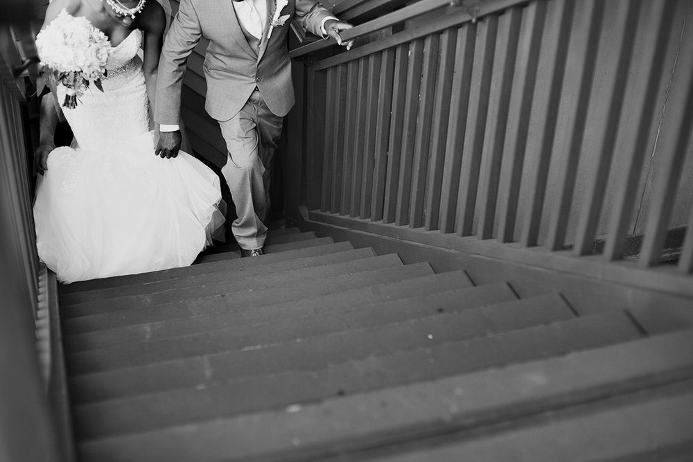Bride and Father of the bride walking