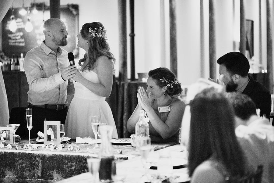 Wedding day toast romance photography