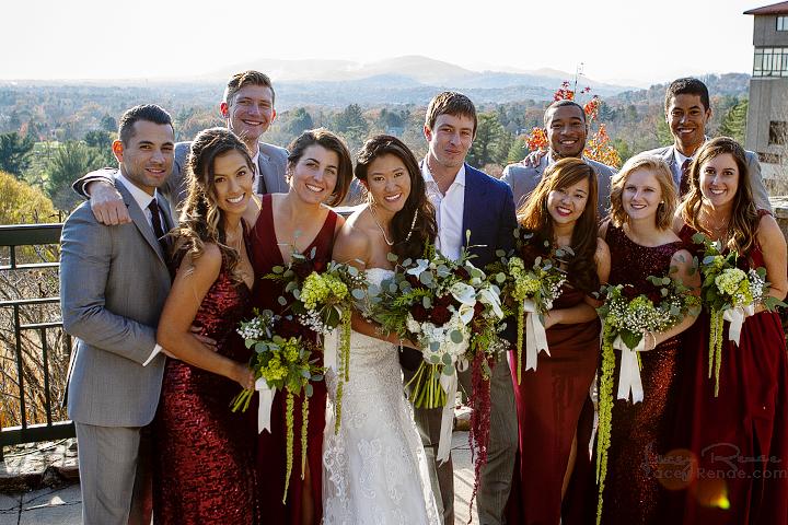 Bridal Party at Omni Grove Park Portrait