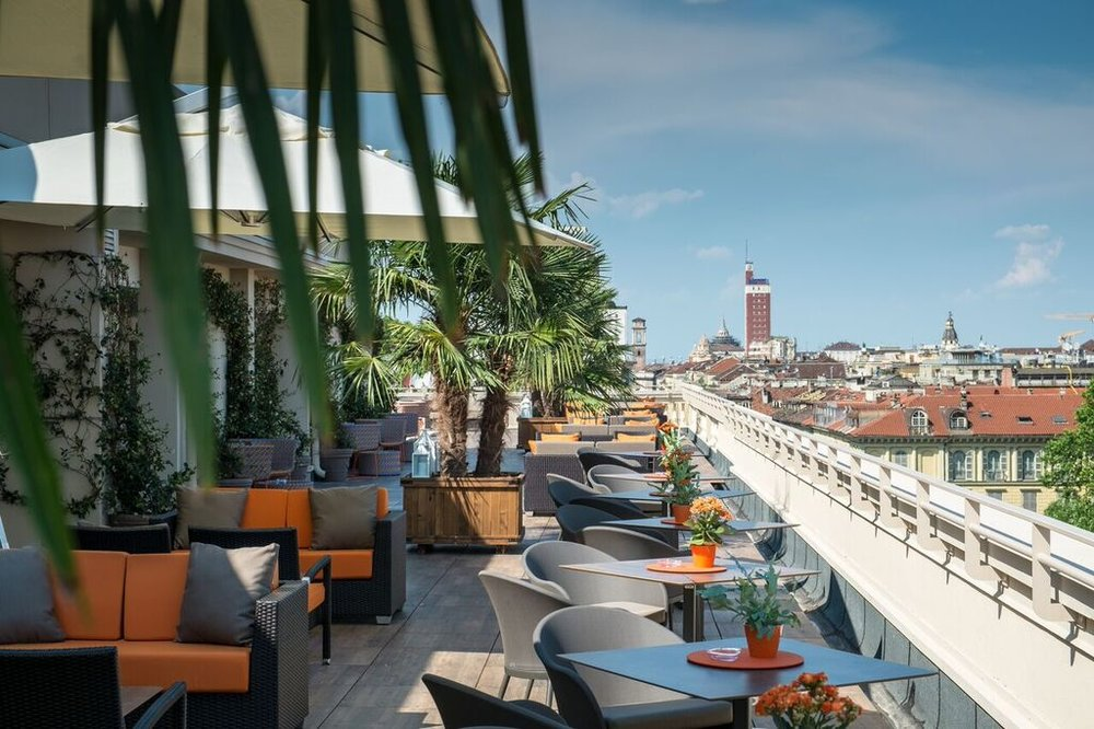 Turin Palace Hotel rooftop terrace