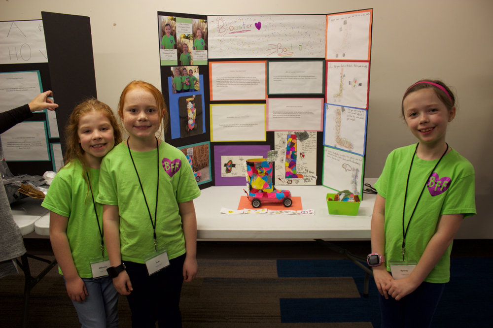 Booster Boot   Designed by Mikenley King, Ada Holloway, and Sydney Brown of Westwood Elementary School What problem does your invention solve? People who are slow will be able to get where they are going more quickly and without having to work out to get faster.