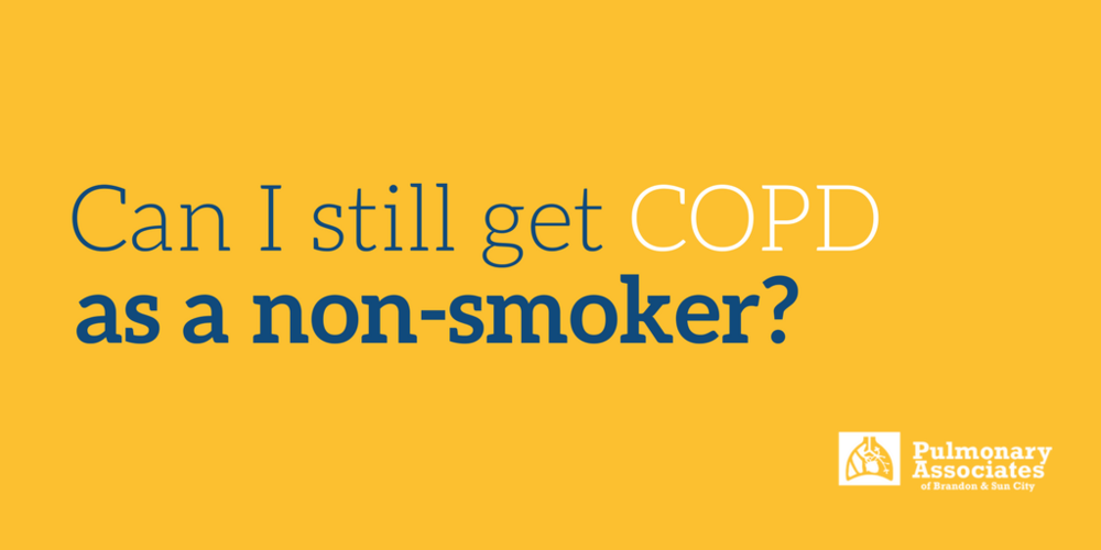 COPD as a non-smoker
