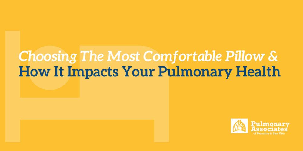 Choosing The Most Comfortable Pillow, And How It Impacts Your Pulmonary Health, best pillow for side sleepers, best pillow for back sleepers, best pillow for stomach sleepers