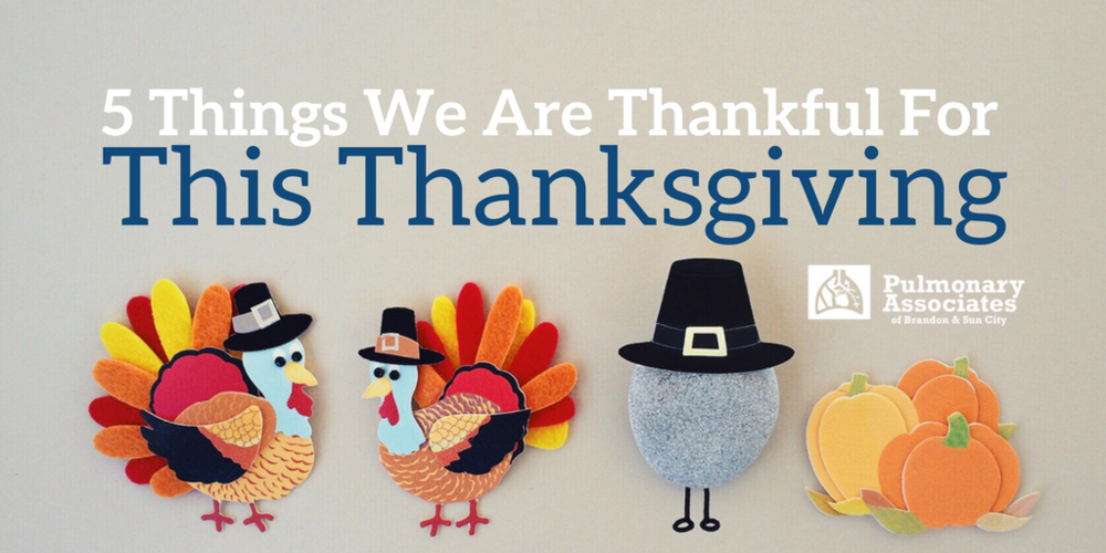 5 Things We Are Thankful For This Thanksgiving, sleep disorder center, pulmonary research, holiday