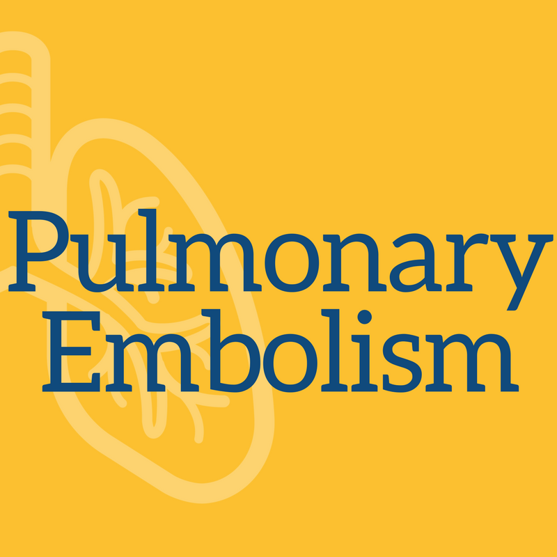Pulmonary Associates of Brandon and Sun City, Pulmonary Ebolism