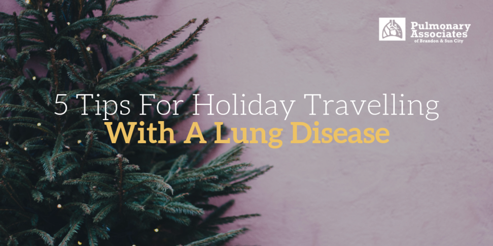 tips for holiday travelling with a lung disease