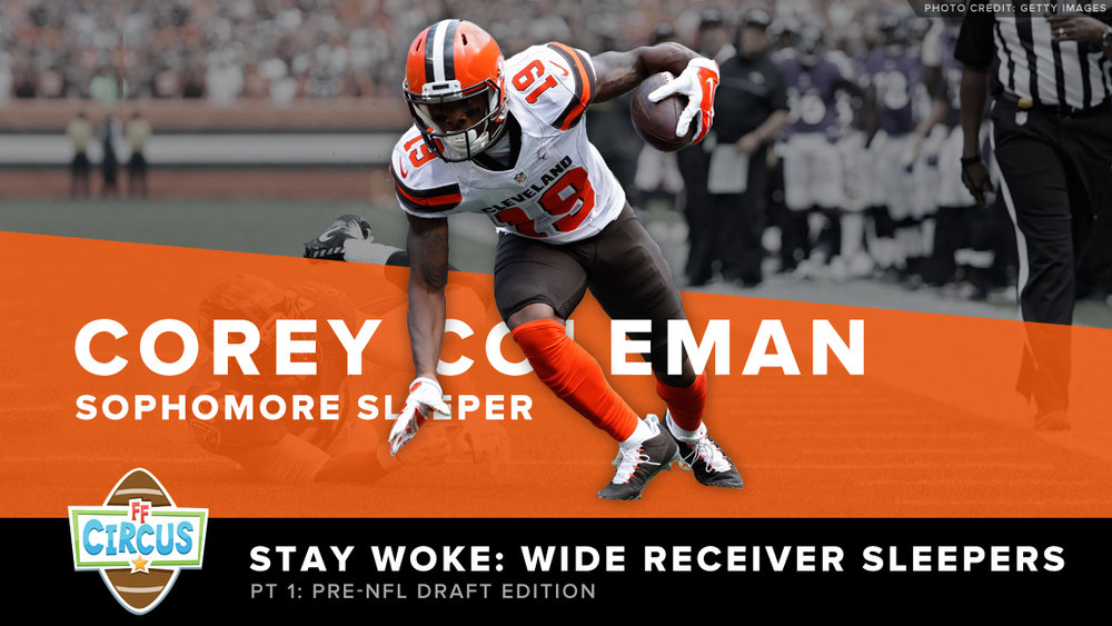 Corey Coleman of the Cleveland Browns breaks a tackle on an 11-yard touchdown reception against the Baltimore Ravens.