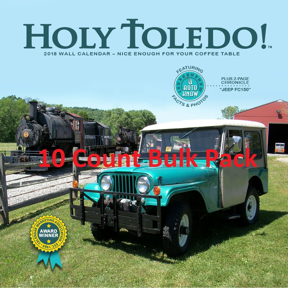 2018 Holy Toledo! Calendar 10-Count Bulk Pack