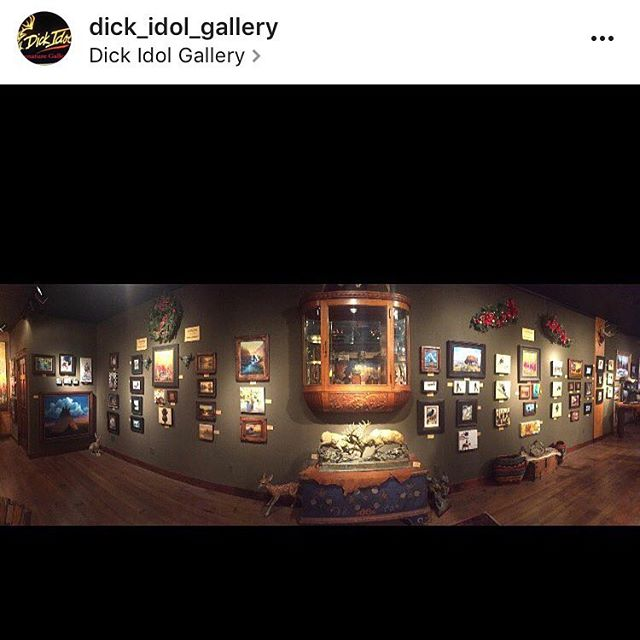 The Dick Idol Gallery Christmas Miniatures show went up tonight. I couldn't make the opening, but am looking forward to seeing these pieces all up! #miniatures #paintings #whitefish #gallery #christmas