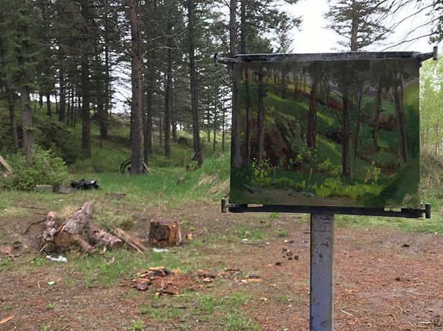 And... it's raining hard now. Well, that was fun!  #pleinair #havesunwhileitlasts #paintfast #wetpaint #allaprima