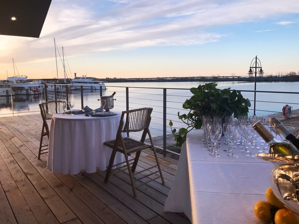 Over 700 square feet of deck area allow your guests to stroll outside while taking in the breath taking views of the lake.