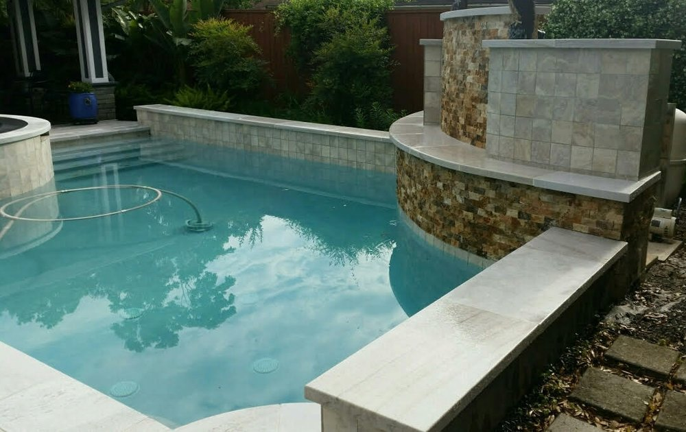 Private Residence – Flamed and Brushed White Quartzite