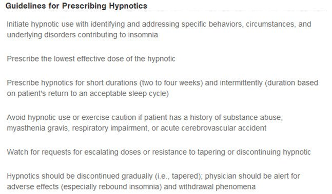 Figure 1 – This is the most appropriate way to treat insomnia with pharmacotherapy.