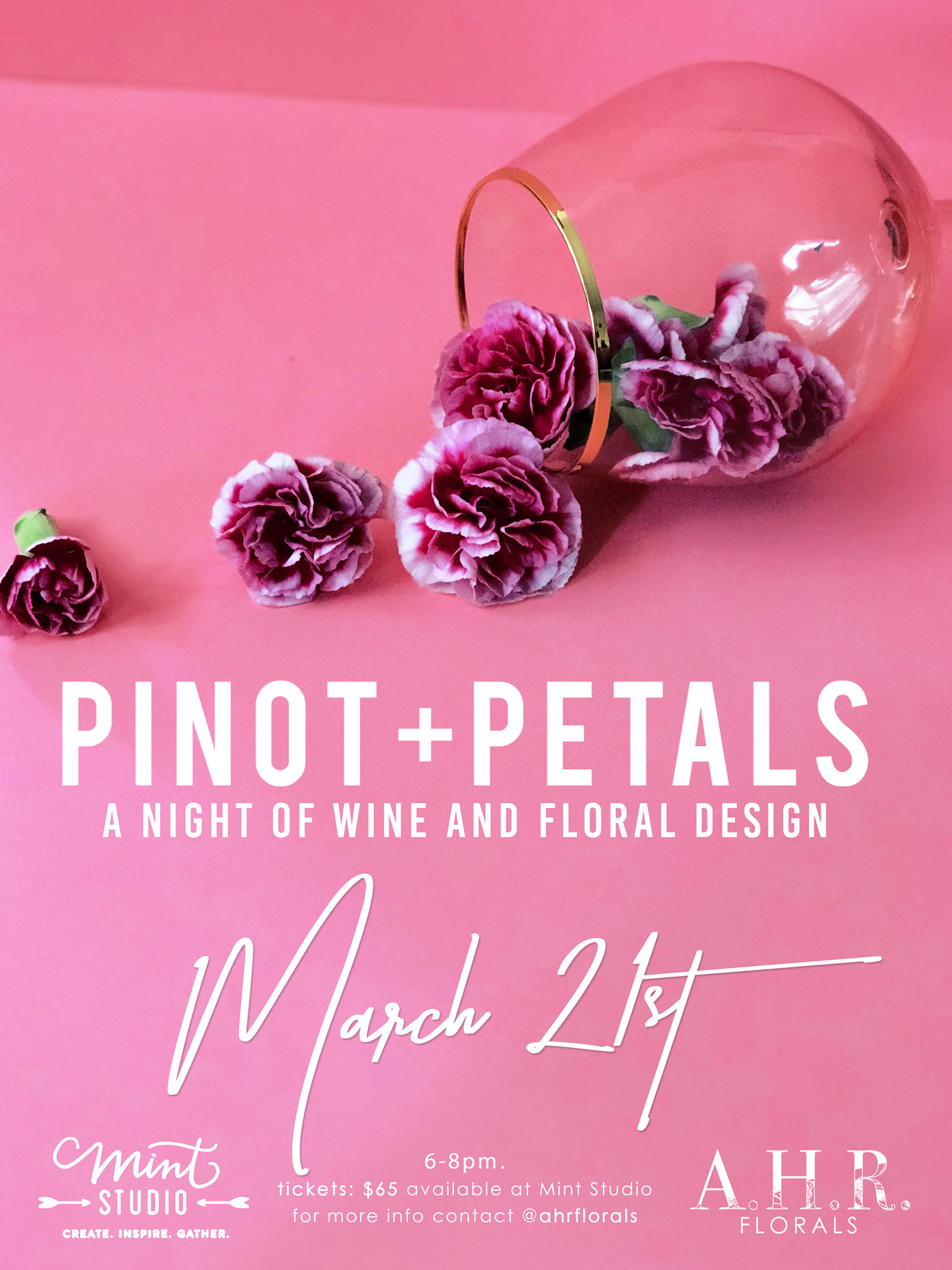 pinot and petals wine and floral design ahr florals