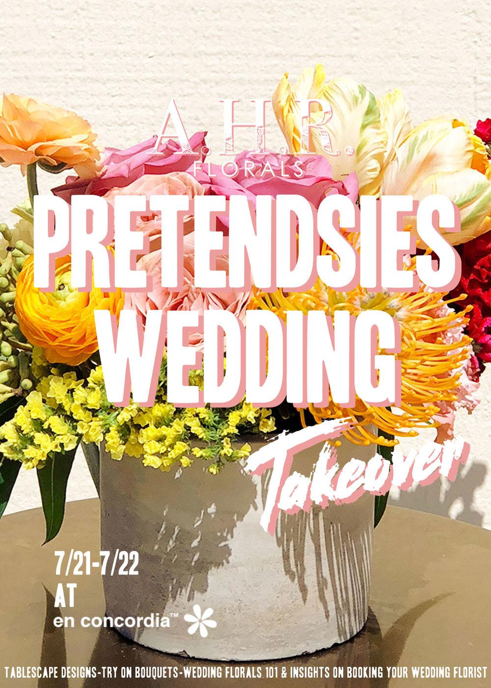 AHR FLORALS Pretendsies wedding showcase takeover