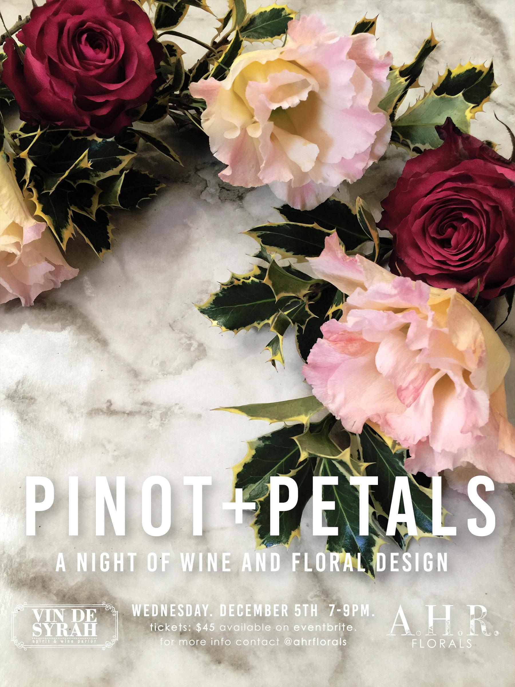 AHR FLORALS PINOT+PETALS Holiday Wreaths