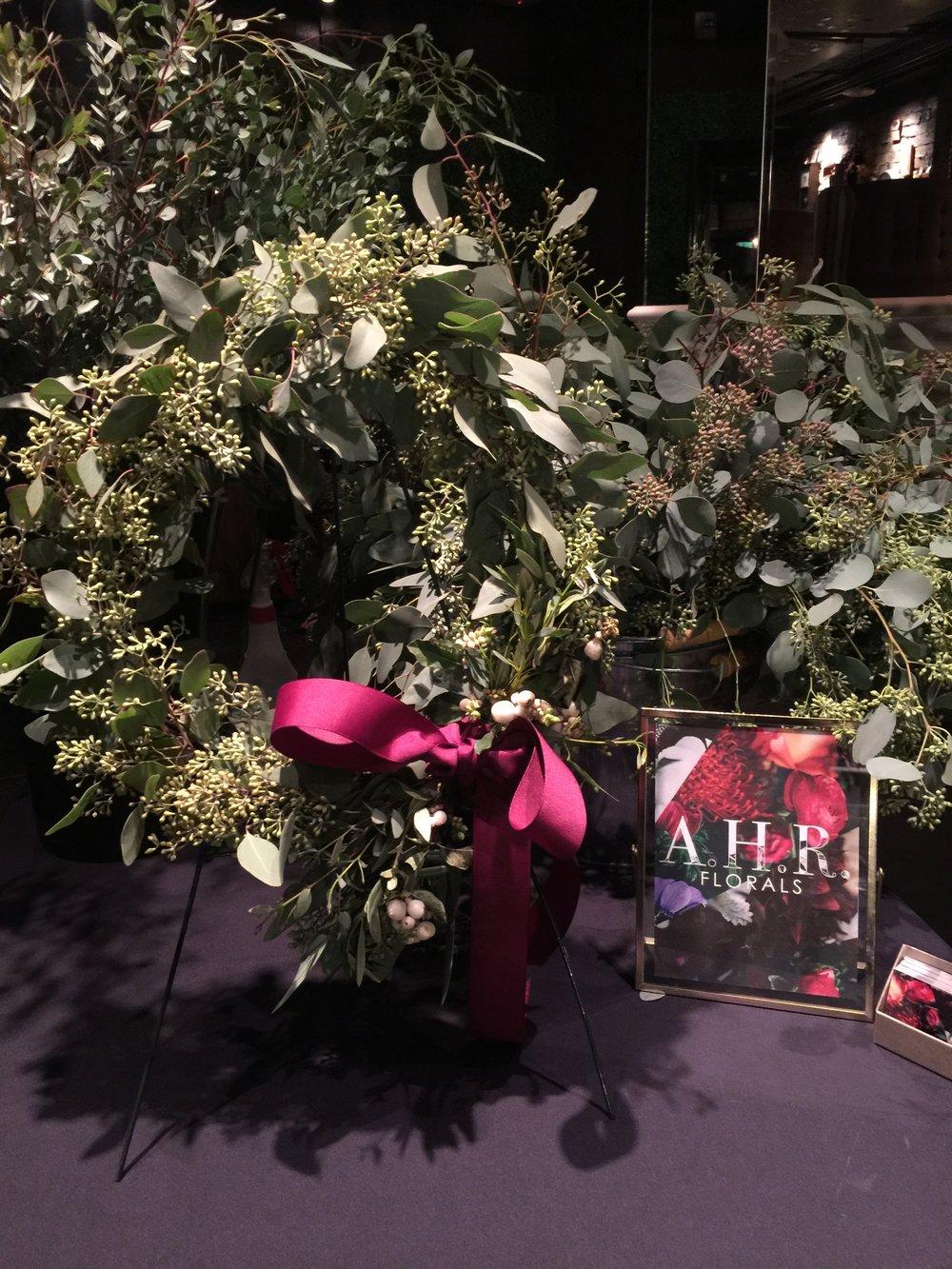 AHR Florals wine & wreaths