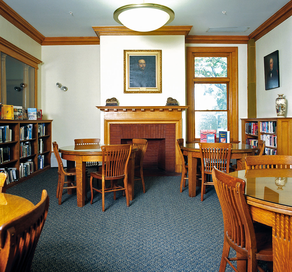 The historic reading room received a light-touch restoration that retained the original furnishings.