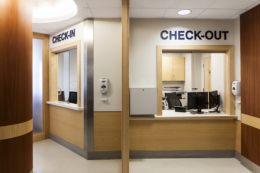 Central checkin for Ophthalmology