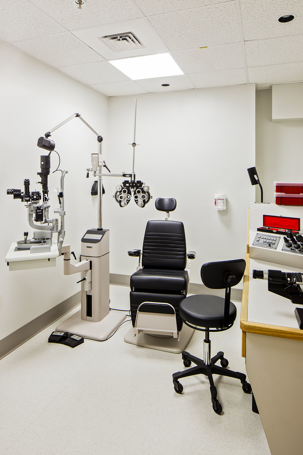 Ophthalmology exam room