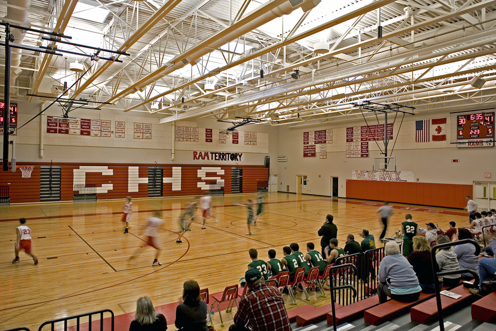 Cony has two regulation high school gyms divided by a folding wall that can be retracted for graduation events.