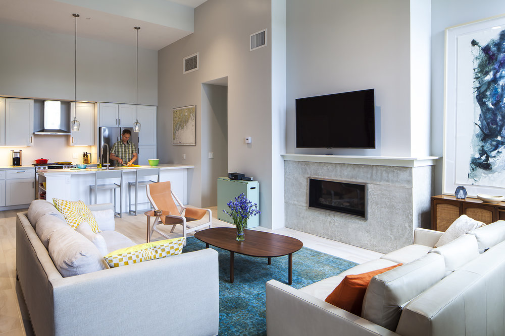 All units have gas fireplaces, energy-efficient appliances, and high-grade interior finishes.
